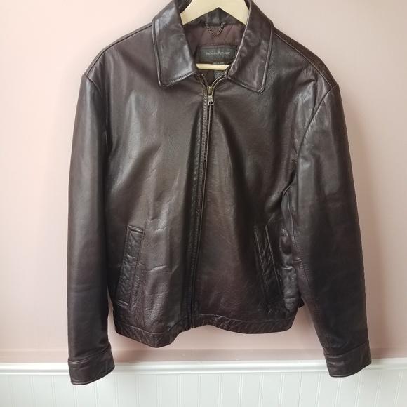82fe2215c Men's Banana Republic Brown leather bomber jacket